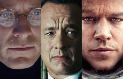 Michael Fassbender in Steve Jobs, Tom Hanks in Bridge of Spies and Matt Damon in The Martian