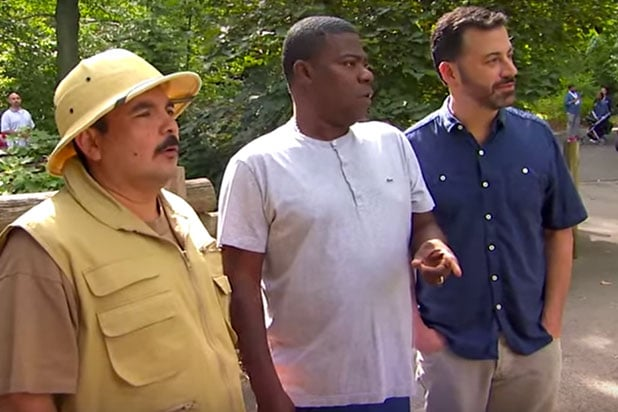 Tracy Morgan Gives Jimmy Kimmel Tour Of Bronx Zoo After Unusual