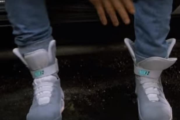 Nike Gives Michael J. Fox First Pair of Power Laces MAG Shoes From  Back to  the Future  (Photos) abbecd45f9