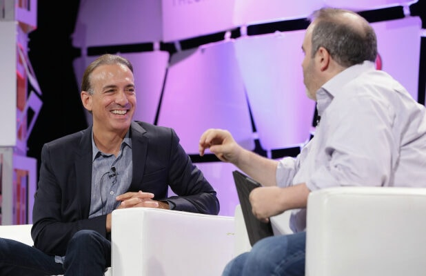 Van Toffler, CEO & content creator and Jason Hirschhorn, CEO of REDEF speak onstage during TheWrap's 6th Annual TheGrill at Montage Beverly Hills on October 6, 2015 in Beverly Hills, California.