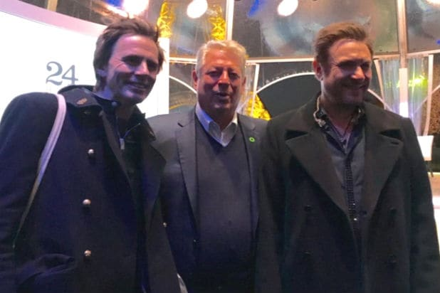Al Gore with Duran Duran at Paris Live Earth event