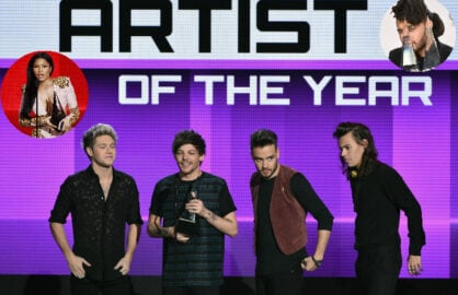 AMA Winners One Direction Nicki Minaj The Weeknd