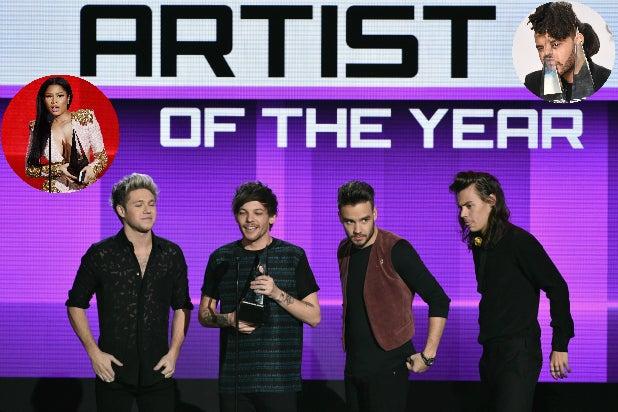 AMA Winners One Direction Nicki Minaj The Weeknd