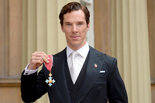 LONDON, ENGLAND - NOVEMBER 10: Actor Benedict Cumberbatch after receiving the CBE (Commander of the Order of the British Empire) from Queen Elizabeth II for services to the performing arts and to charity during an Investiture Ceremony at Buckingham Palace on November 10, 2015 in London, England. (Photo by Anthony Devlin - WPA Pool / Getty Images)