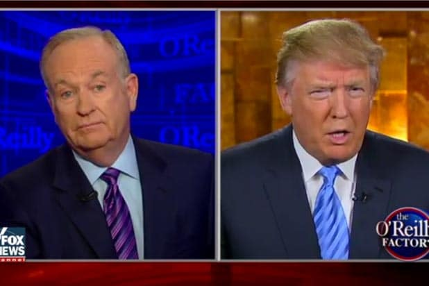bill o'reilly fox news criticizes trump