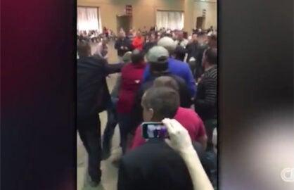 Black Lives Matter Protester at Trump Rally