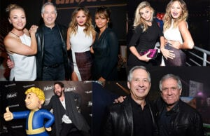 """Calvin Harris spun the """"Fallout 4"""" launch party in downtown L.A. on Thursday night, November 5. (Getty Images)"""