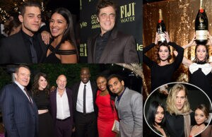 A slew of stars - from Benicio Del Toro and Rami Malek, to Vanessa Hudgens and @SirPatStew himself -  flocked to HFPA and InStyle's bash in West Hollywood on Tuesday night, November 17, 2015. (Photos courtesy of HFPA, Moet, and Fiji Water)