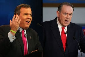 Chris Christie Mike Huckabee