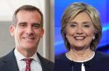 Eric Garcetti Hillary Clinton
