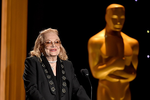 HOLLYWOOD, CA - NOVEMBER 14: Actress Gena Rowlands accepts an award onstage during the Academy of Motion Picture Arts and Sciences' 7th annual Governors Awards at The Ray Dolby Ballroom at Hollywood & Highland Center on November 14, 2015 in Hollywood, California. (Photo by Kevin Winter/Getty Images)