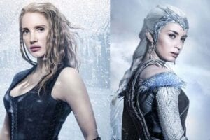 The Huntsman Winter's War First Look at Emily Blunt Jessica Chastain