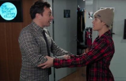 "Jimmy Fallon and Justin Bieber on ""The Tonight Show"""