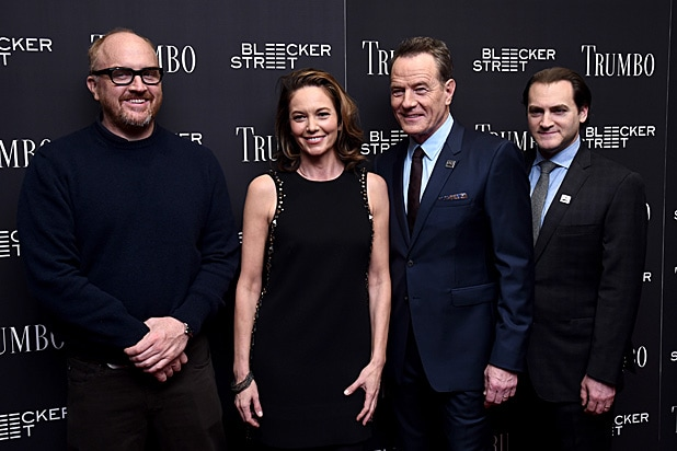 Louis CK, Diane Lane, Bryan Cranston and Michael Stuhlbarg /Getty Images