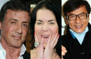 Sylvester Stallone, Chyna, Jackie Chan