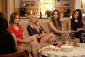 "PRETTY LITTLE LIARS - ""Pretty Little Liars: 5 Years Forward"" - In advance of the celebrated return of the hit original series ""Pretty Little Liars,"" the cast and crew sit down to discuss the highly anticipated series time jump with ""Pretty Little Liars: 5 Years Forward,"" a one-hour behind-the-scenes special airing Tuesday, November 24 at 8:00 - 9:00 PM ET/PT. (ABC Family) LUCY HALE, ASHLEY BENSON, TROIAN BELLISARIO, SHAY MITCHELL"