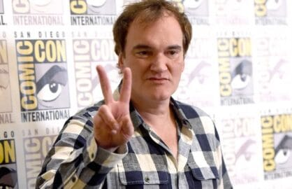 "SAN DIEGO, CA - JULY 11:  Director Quentin Tarantino attends ""The Hateful Eight"" press room during Comic-Con International 2015 at the Hilton Bayfront on July 11, 2015 in San Diego, California.  (Photo by Jason Merritt/Getty Images)"