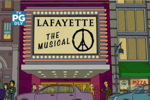 Simpsons Paris Attack Tribute
