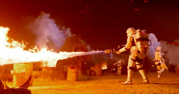 Star Wars The Force Awakens Storm Trooper Flame Thrower