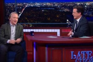 Stephen Colbert Bill Maher Religion Debate