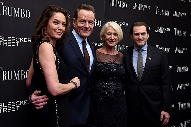 Diane Lane, Bryan Cranston, Helen Mirren, Michael Stuhlbarg/Getty Images
