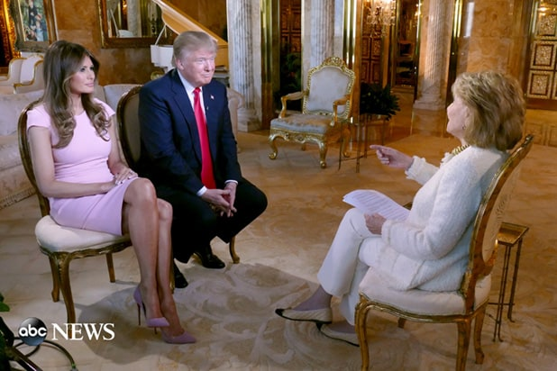 Donald Trump Interview To Air On Abc News Wife Melania