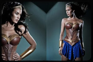 Megan Gale as Wonder Woman