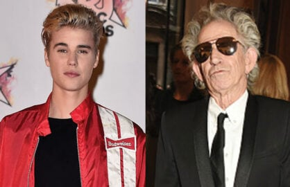 Justin Bieber Keith Richards Pay tribute to Thomas Ayad