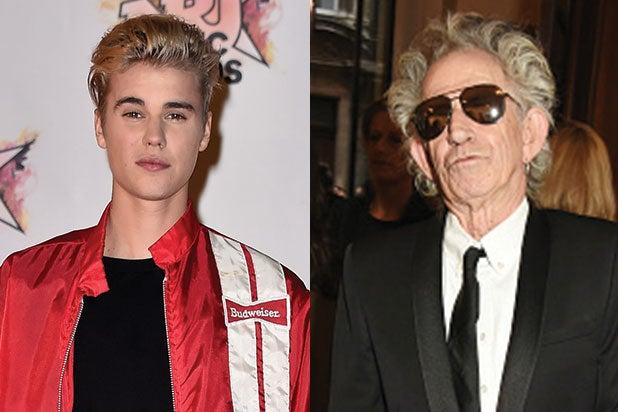 Justin Bieber Keith Richards Pay tribute to Thomas Ayad