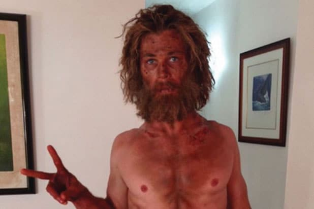 "Chris Hemsworth shares shocking photo of his ""In the Heart of the sea"" diet"