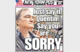 Quentin Tarrantino NY Post front page