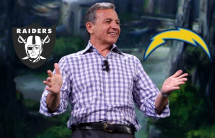 Bob Iger Raiders Chargers