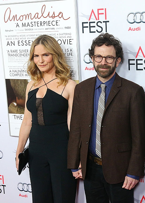 Jennifer Jason Leigh and Charlie Kaufman/Getty Images