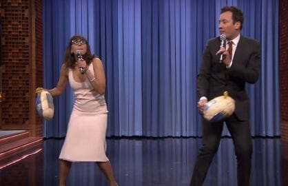 jimmy-fallon-rashida-jones-thanksgiving