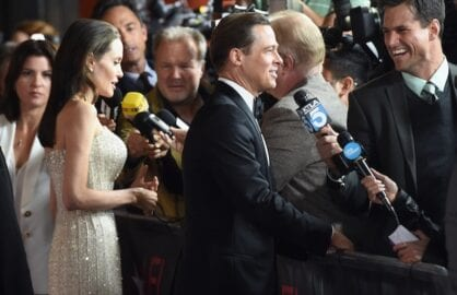 Angelina Jolie and Brad Pitt at the By the Sea premiere