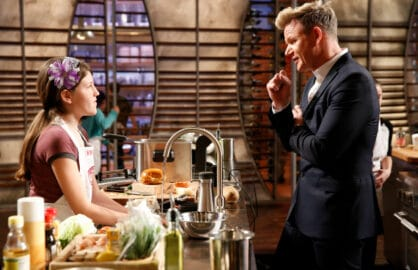 "MASTERCHEF: Contestant Vivian in the all-new ""Junior Edition: New Kids on the Chopping Block"" Season Four premiere episode of MASTERCHEF airing Friday, Nov. 6 (8:00-9:00 PM ET/PT) on FOX. Cr. Greg Gayne / FOX. © 2015 Fox Broadcasting Co."