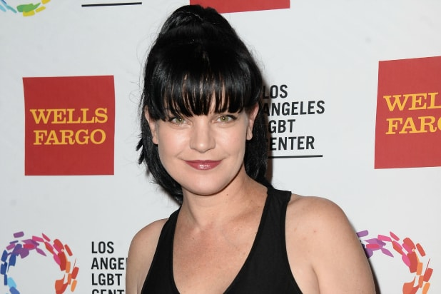 Pauley Perrette at the Hyatt Regency Century Plaza on November 7, 2015 in Los Angeles, California.