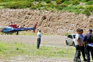 Argentina helicopter crash MTV