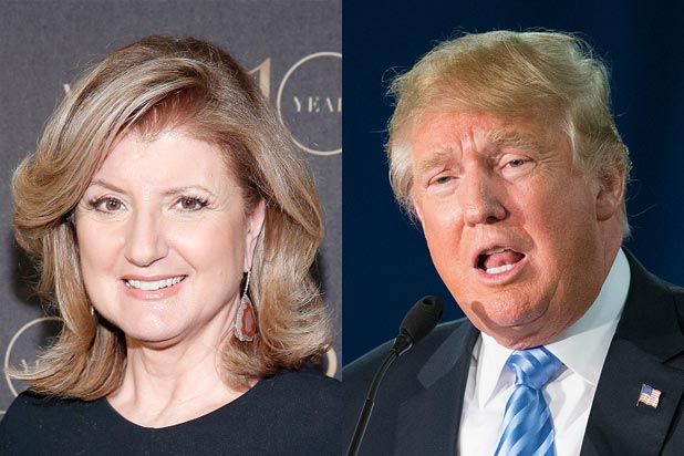 Arianna Huffington and Donald Trump