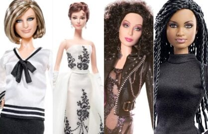 Streisand, Hepburn, Cher and Duvernay Barbies