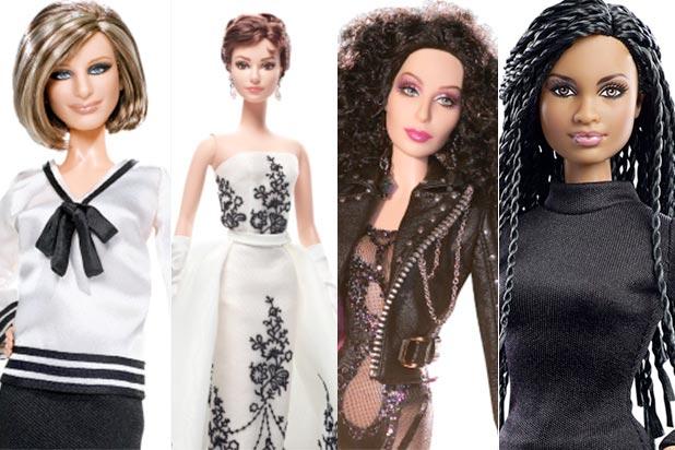 Streisand, Hepburn, Cher and Duvernay Barbies