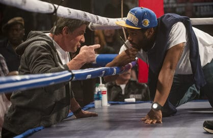 Sylvester Stallone and Ryan Coogler on the set of Creed