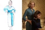 "Sandy Powell sketch and costume for ""Carol"""