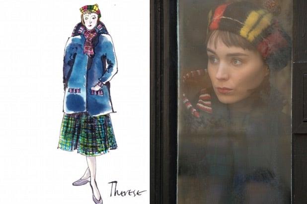 Carol costume sketch and still