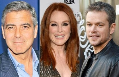 George Clooney, Julianne Moore, Matt Damon in Suburbicon