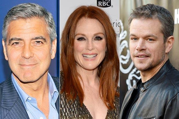 George Clooney, Julianne Moore, Matt Damon in Suburbicon