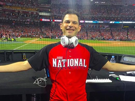 Earworm DJ'ing at the MLB All Star Game in Cincinnati in July 2015. (Instagram)