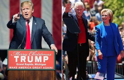 Donald Trump; Bill and Hillary Clinton