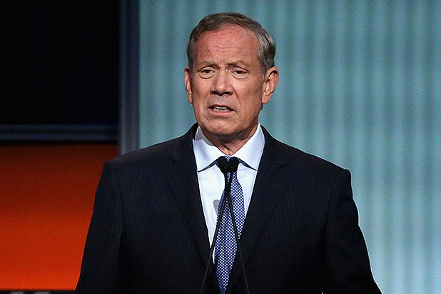 CLEVELAND, OH - AUGUST 06: Republican presidential candidate George Pataki participates in a presidential pre-debate forum hosted by FOX News and Facebook at the Quicken Loans Arena August 6, 2015 in Cleveland, Ohio. Pataki and six other GOP candidates were selected to participate in the forum based on their rank in an average of the five most recent national political polls. (Photo by Chip Somodevilla/Getty Images)