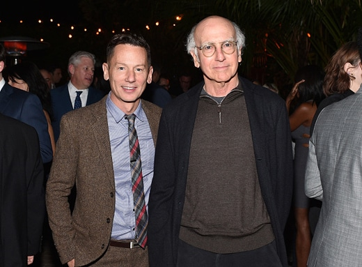 LOS ANGELES, CA - DECEMBER 03: GQ editor-in-chief Jim Nelson (L) and actor-writer Larry David attend the GQ 20th Anniversary Men of the Year Party at Chateau Marmont on December 3, 2015 in Los Angeles, California. (Photo by Stefanie Keenan/Getty Images for GQ)